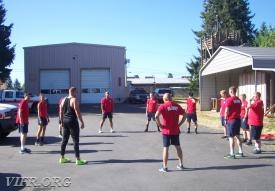 physical fitness training w/ FF Lenz