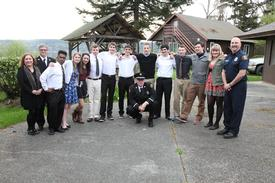 Some of VIFR Explorers 2013-2014, with advisors Deborah Brown, Lt. Rick Brown, Lt. Charlie Krimmert and John Hemmer.