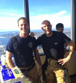 Volunteer FF/EMT Adam Joyner and FF/Paramedic Andy Johnson